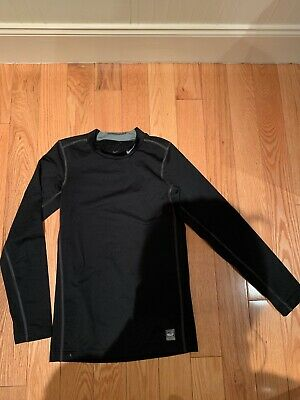 Nike Pro Boys Compression Top Crew Neck Black MB LB Base Layer 413911-010