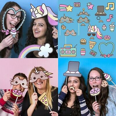 Pusheen Selfie Kit / Photo Booth Party / Fancy Dress Props *Fast Uk Dispatch*