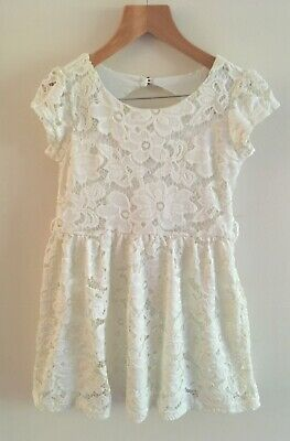 SALE Yumi Girl Age 5/6 Years Cream Lace Party Dress