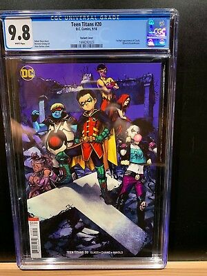 Teen Titans #20 Cgc 9.8 Variant Rare First Full Appearance Of Crush Sold Out
