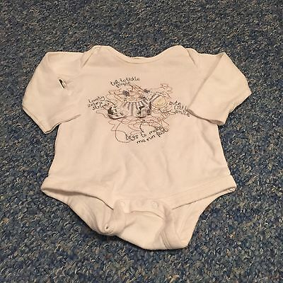 Baby boys & girls white zebra embroidered long sleeved top 3-6 months clothes