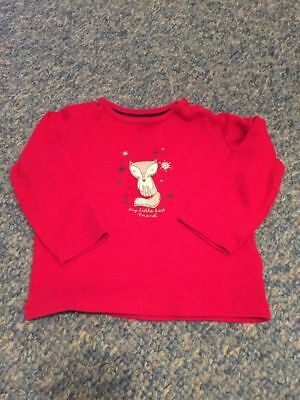 Red fox long sleeved top baby girls 6-12 months clothes - We combine postage