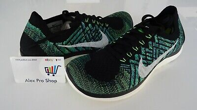sneakers for cheap ab862 bd538 NEW WMNS SIZE 8 Nike Free 4.0 Flyknit Black/Sail/Green 717076 013