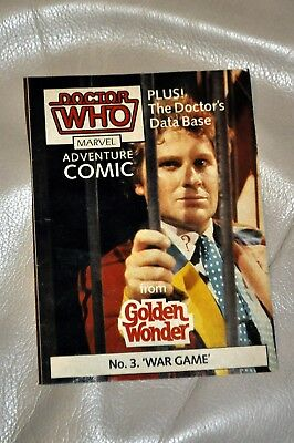 "Dr Doctor Who GOLDEN WONDER ADVENTURE COMIC No.3 ""War Game"" RARE! Free postage!!"