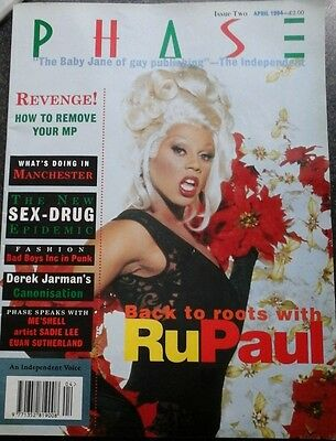 RUPAUL PHASE MAGAZINE APRIL1994 EXTREMELY RARE ISSUE 2 1990s NM/EX