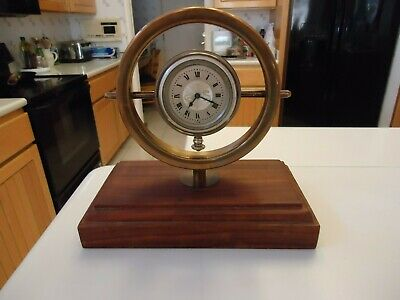 Vintage Elgin 8 Day Mantle Clock - Unique Design - LOOK