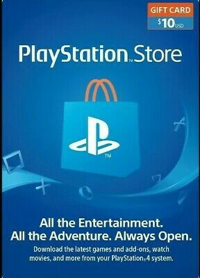 PlayStation Network $10 USD Code PSN US Store Card for USA accounts