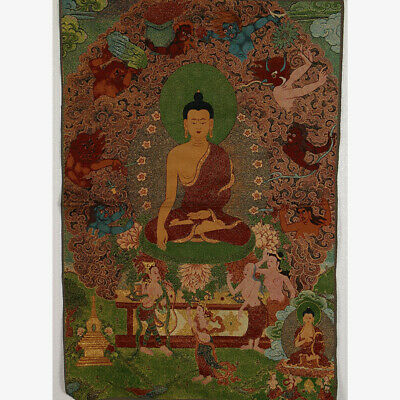 Tibet Collectable Silk Hand Painted Painting Buddhism Thangka MK001