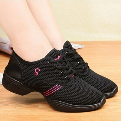 Female Dance Sneakers Soft Mesh Shoes Woman Jazz Ballroom Practicing Shoes 7Q 2T