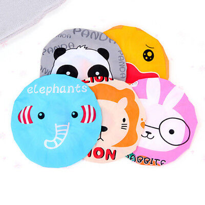 Elastic Band Environmental Shower Cap Kids Baby Waterproof Cute Bath Cap Hat LV