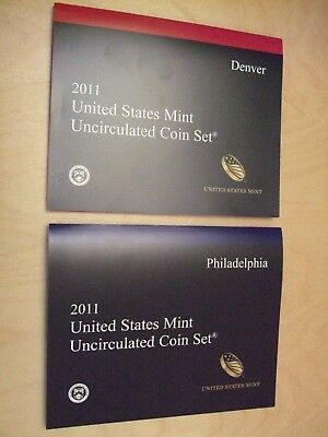 2011 P & D US Mint Uncirculated 28 Coin Set Original Government Packaging & Box