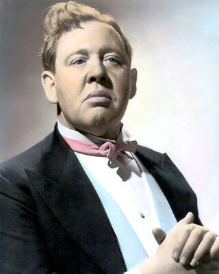 """Charles Laughton Tales Of Manhattan 1942 Actor 8X10"""" Hand Color Tinted Photo"""