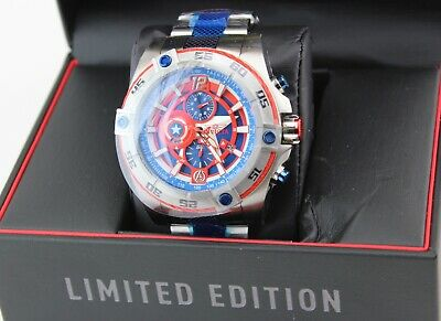 New Authentic Invicta Marvel Capitan America Speedway Viper Blue Men 26792 Watch