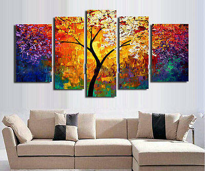 Large Modern Abstract Oil Painting on Canvas Contemporary Wall Art Framed aps130