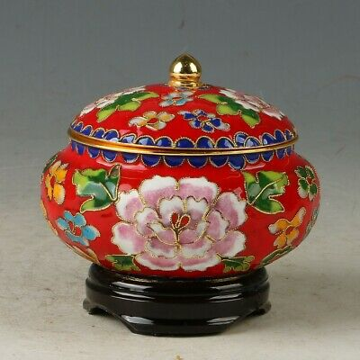 Chinese Cloisonne Hand-made Flowers Pot  MY0872