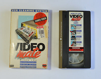 Video Mate VCR VHS Cleaning System Head Cleaner