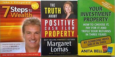 7 STEPS TO WEALTH +  POSITIVE CASH FLOW + YOUR INVESTMENT PROPERTY - 3 Books