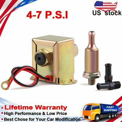 Universal Electric Fuel Pump 12V 4-7Psi E8012S Fuel Petrol Diesel Fuel EP12S 8mm