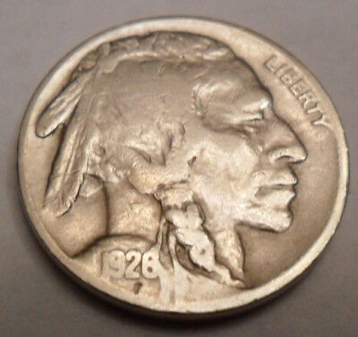 "1926 P Indian Head ""buffalo"" Nickel   *ag Or Better*   **free Shipping**"