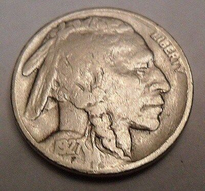 """1927 P Indian Head """"Buffalo"""" Nickel  *Ag Or Better*  **Free Shipping**"""