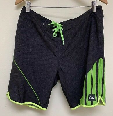 e79dd4cf45 Quiksilver New Wave Everyday Board Shorts Swim Trunks: Green/Gray- Mens  Size 34