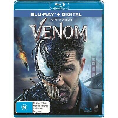 Venom Blu-ray + Digital NEW AND SEALED Genuine Aussie Release Region B
