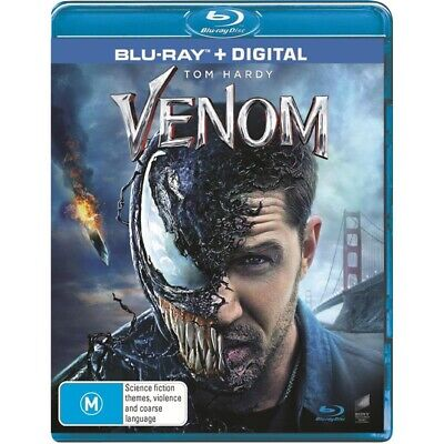 Venom Blu-ray + Digital NEW & SEALED Genuine Aussie Release Region B
