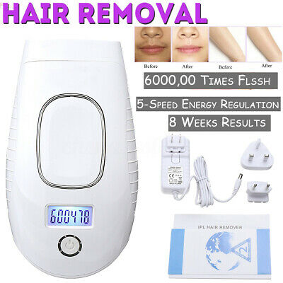 IPL Permanent Hair Laser Removal for Body & Face LCD Home Device 600, 000 Pulses