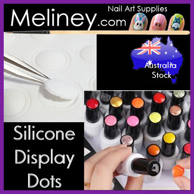 25pc Silicone Display Dots Stickers Gel Nail Polish Bottle Label Tool Button