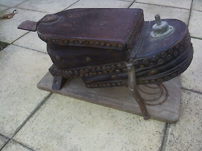 FOOT BELLOWS, MAHOGANY & LEATHER, VICTORIAN jewellers, smithy, not siebi gorman
