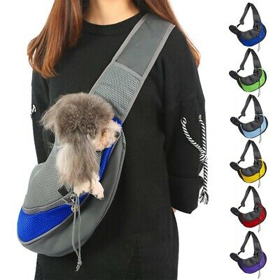 Pet Dog Cat Puppy Mesh Carrier Comfort Travel Tote Shoulder Bag Sling Backpack