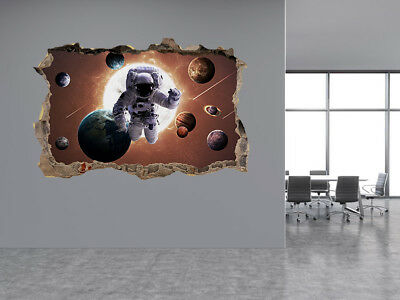 Planets of the solar system photo Hole in wall sticker wall mural (50430092)