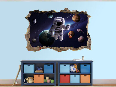 Planets of the solar system photo Hole in wall sticker wall mural (50430095)