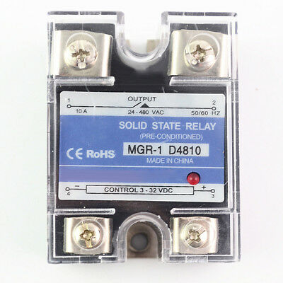 10A/25A/40A/60A Solid State Relay Amp Model DC Input AC Output 3-32V DC