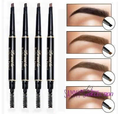Waterproof Eyebrow Black Dark Brown Light Brown Pencil with Spoolie Makeup UK❤️