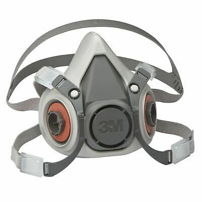 3M 6200M Half Mask Reusable Respirator Dust Gas Vapour 6200 Free UK Next Day