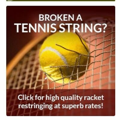 2x TENNIS RACKET RETRINGS RESTRUNG    All Makes & models   RESTRINGING OFFER