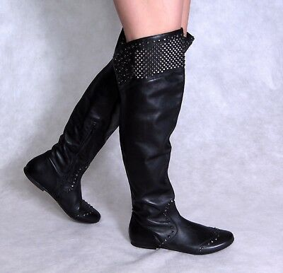 91aa4441f0ff Ermanno Scervino Leather Boots Italy 38 US 7 EU 37 Black Ankle Junior  Women s