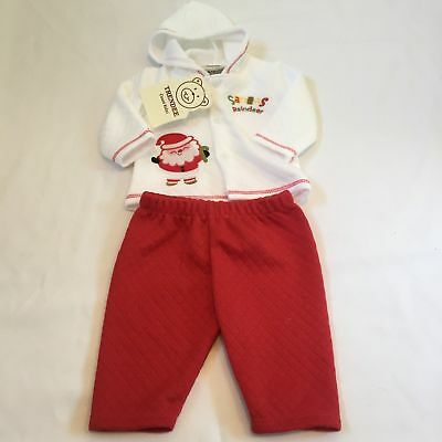 White red santas reindeer outfit Baby girls boys unisex clothes 0-3 Months