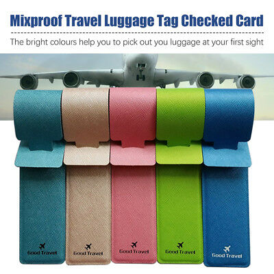 1/4PCS Luggage Tags Suitcase Label Name Address ID Bag Baggage Tag Travel W0