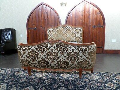 French Antique Louis XV style double bed