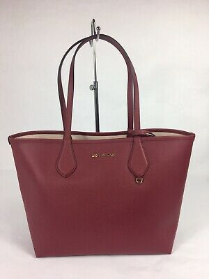 5d27eecfff82e7 NEW MICHAEL KORS Saige md Reversible Tote Bag Mlbry Shoulder Handbag ...