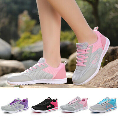 Women Sneakers Shoes Workout Lace Up Tennis Ladies Casual Athletic Soft Sole