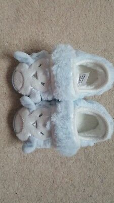 baby penguin slippers blue toddler size 4 to 5