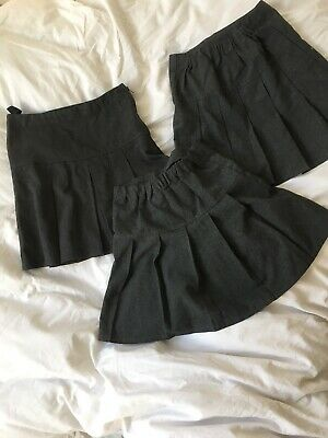 0ee9d67b5 Bundle Girls School Uniform Pleated Grey Skirts 2 M&S 6-7 1 From Next Age