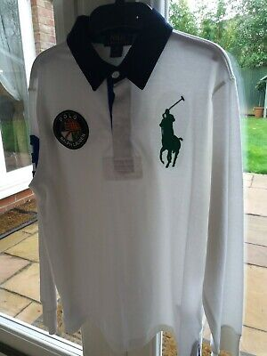 Ralph Lauren boys white long sleeve polo shirt Age 10-12 years, brand new no tag