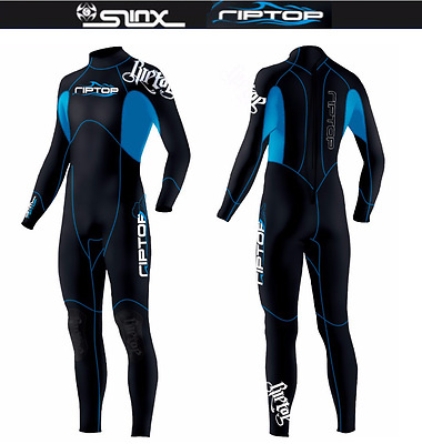 Men's 3mm Blue Black Neoprene Long Wetsuit triatlon Surf Surfing swimsuit Dive