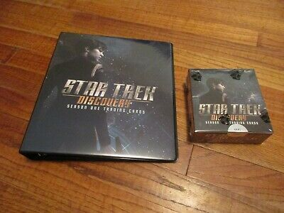 Star Trek Discovery Season One Trading Cards Factory Sealed Box & Binder + P1  1