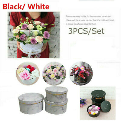 Florist Hat Boxes set of 3 Christmas Flowers Gifts Living Vase home wedding deco