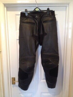 """Mens, Hein Gericke, Leather Motorbike Trousers, Size 52, UK 34"""" Waist, Excellent"""